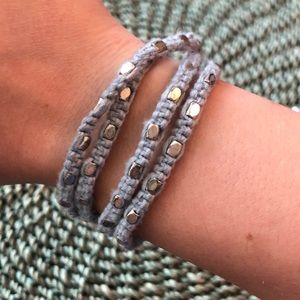Fossil Blue and Silver Wrap Bracelet